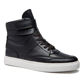 Casual Lace-Up PU cuir hautes chaussures
