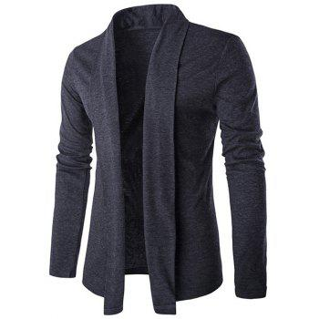 Shawl Collar Long Slim Cardigan