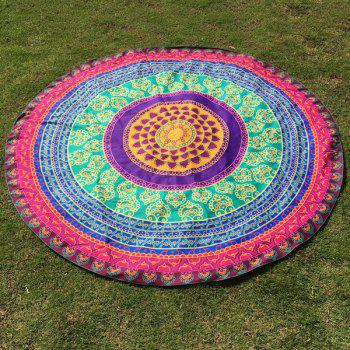 Autumn Ethnic Totem Print Round Beach Throw