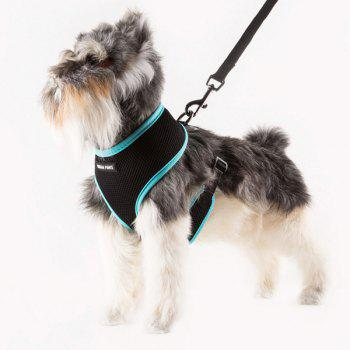 Breathable Mesh Cloth Puppy Dog Chest Straps - BLUE BLUE