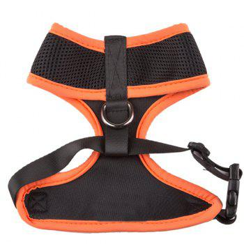 Breathable Mesh Cloth Puppy Dog Chest Straps - SWEET ORANGE L