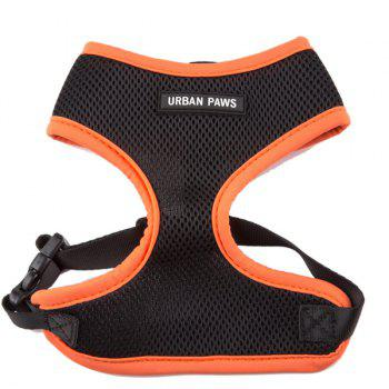 Breathable Mesh Cloth Puppy Dog Chest Straps - SWEET ORANGE SWEET ORANGE