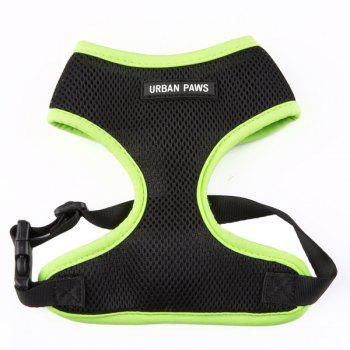 Breathable Mesh Cloth Puppy Dog Chest Straps - GREEN L