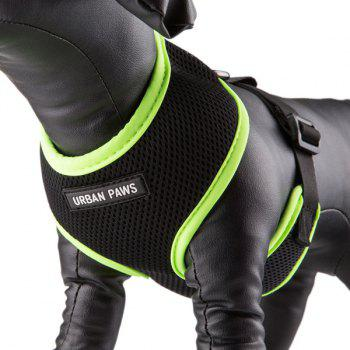 Breathable Mesh Cloth Puppy Dog Chest Straps - GREEN GREEN