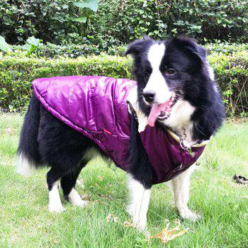 Winter Waistcoat Jacket Clothes For Pet Dog - PURPLE M