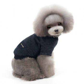 Knitting Sweater Winter Outwear Puppy Clothes - DEEP GRAY L