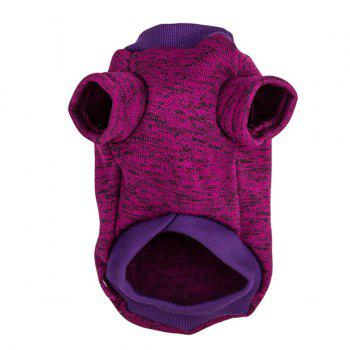 Knitting Sweater Winter Outwear Puppy Clothes - PURPLE PURPLE