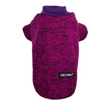 Knitting Sweater Winter Outwear Puppy Clothes - PURPLE L