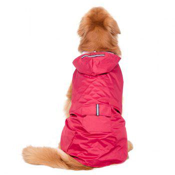 Hooded Raincoat Waterproof Large Dog Clothes