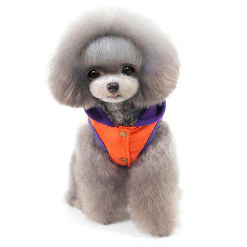 Winter Warm Thickening Hooded Assorted Colors Two Feet Puppy Clothes - ORANGE RED ORANGE RED