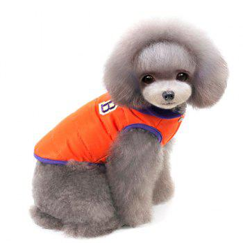 Winter Warm Thickening Hooded Assorted Colors Two Feet Puppy Clothes - ORANGE RED XL