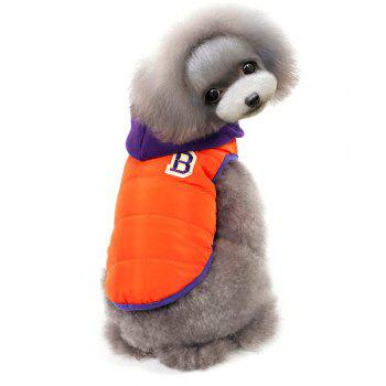 Winter Warm Thickening Hooded Assorted Colors Two Feet Puppy Clothes - XL XL