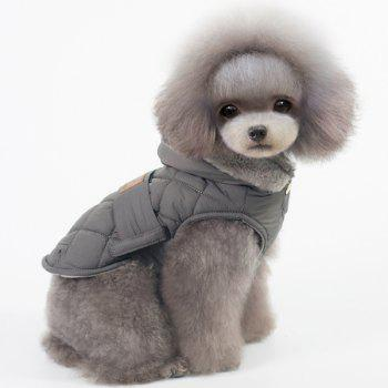 Hooded Belt Down Cotton Padded Winter Warm Two Feet Puppy Clothes - L L