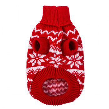 Knitting Snows Wave Sweater Christmas Winter Warm Puppy Clothes - XL XL