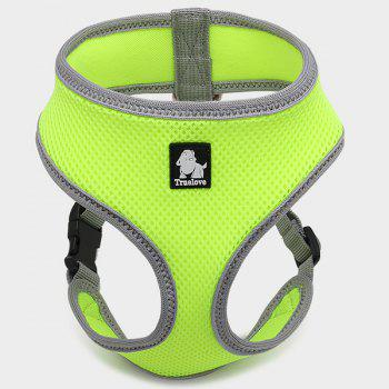 Pet Vest Collar Walking Safety Puppy Strap Clothes - GREEN GREEN