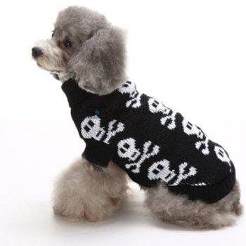 Halloween Small Skulls Knit Crochet Winter Pet Dog Clothes - M M