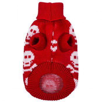 Halloween Small Skulls Knit Crochet Winter Pet Dog Clothes - XS XS