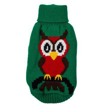 Christmas Owl Sweater Winter Warm Puppy Clothes