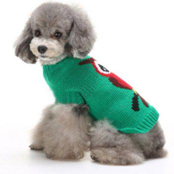 Christmas Owl Sweater Winter Warm Puppy Clothes - GREEN GREEN