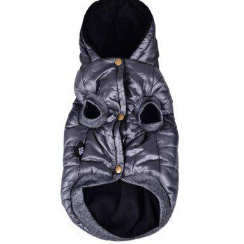 Hooded Down Jacket Parka Waterproof Pet Dog Winter Warm Clothes - GRAY 2XL