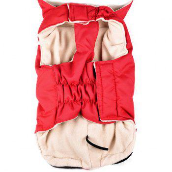 Buy Winter Warm Cotton Coat Jacket Small Dogs Clothes RED