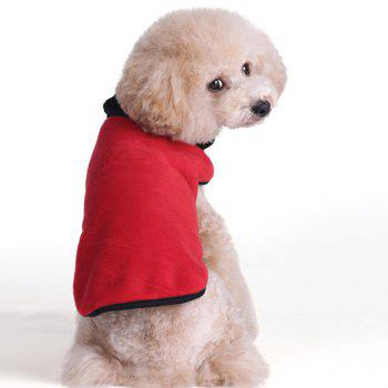 Thickening Soft Nap Winter Warm Jacket Coat Puppy Clothes - RED RED