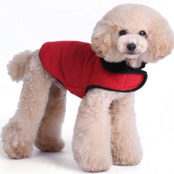 Thickening Soft Nap Winter Warm Jacket Coat Puppy Clothes - RED M