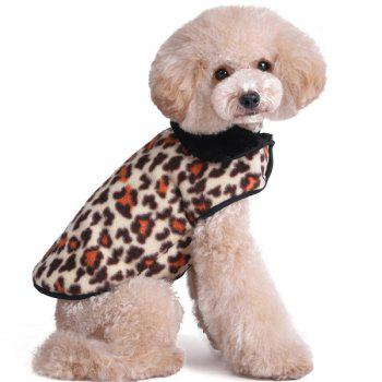 Thickening Soft Nap Winter Warm Leopard Print Jacket Coat Puppy Clothes