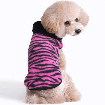 Thickening Soft Nap Winter Warm Zebra Stripe Jacket Coat Puppy Clothes - XL XL