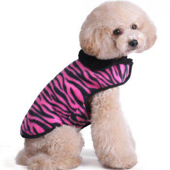 Thickening Soft Nap Winter Warm Zebra Stripe Jacket Coat Puppy Clothes