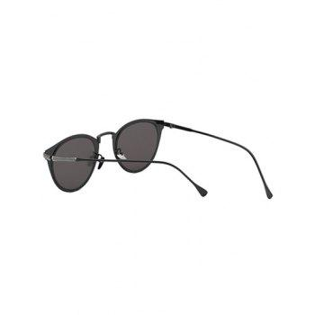 Cool Metal Cat Eye Mirrored Sunglasses - SILVER