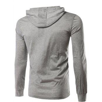 Capuche manches longues Tee - [