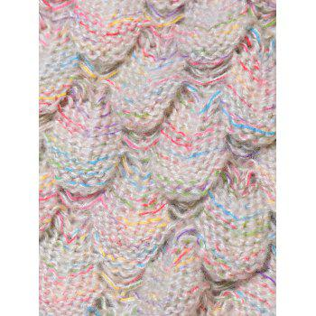 Endearing Multicolored Knitted Strtchy Mermaid Blanket - APRICOT
