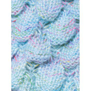 Endearing Multicolored Knitted Strtchy Mermaid Blanket - LIGHT BLUE