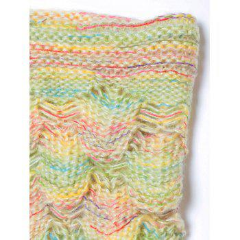 Endearing Multicolored Knitted Strtchy Mermaid Blanket - YELLOW