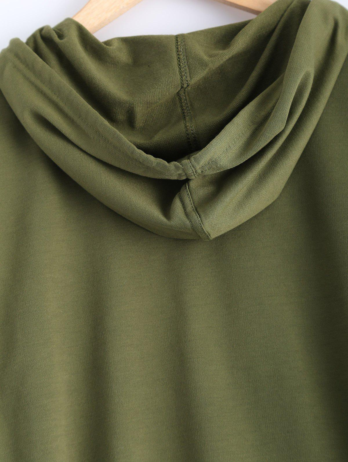 Pocket Design Pullover Hoodie - ARMY GREEN L