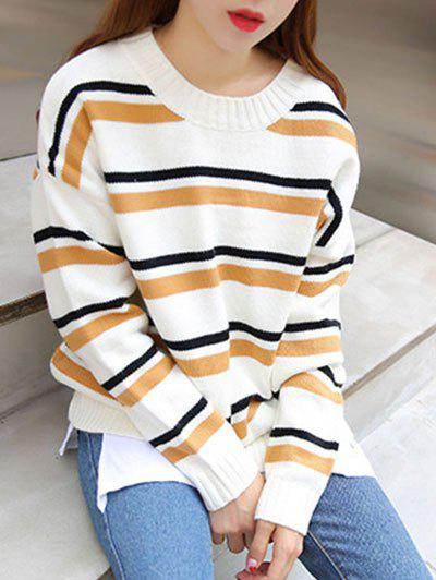 Striped Sweater en vrac - Kaki ONE SIZE