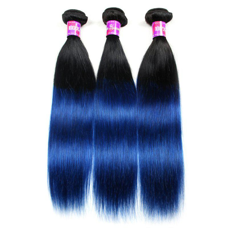 2018 3 Pcs 5a Remy Ombre Color Straight Indian Hair Weaves Colormix