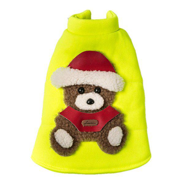 Soft Nap Little Bear Fluorescent Jacket Winter Warm Christmas Puppy Clothes 70cm fluorescent bear wedding birthday gift wholesale creative new large plush bear toys to give their children christmas gifts