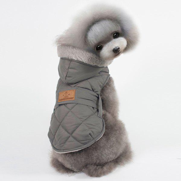 Hooded Belt Down Cotton Padded Winter Warm Two Feet Puppy Clothes warm outwear male new 2015 winter new men warm down jacket collar casual cotton outdoor down jacket cotton fleece parka men