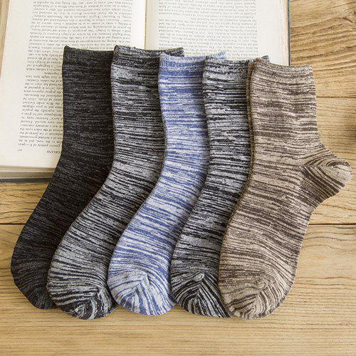 One Set Casual Stripe Pattern Socks - COLORMIX