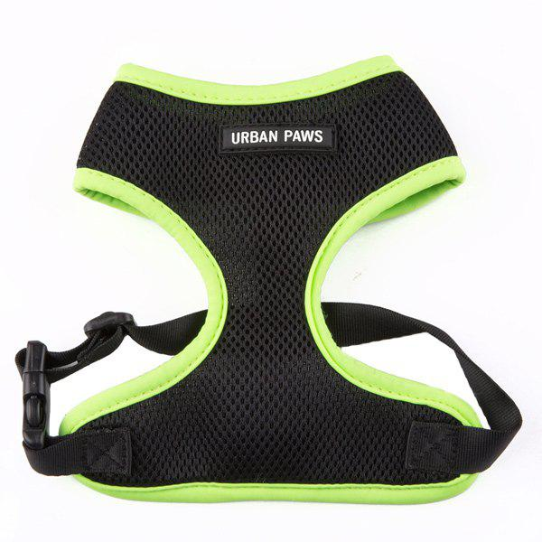 Breathable Mesh Cloth Puppy Dog Chest Straps - GREEN M