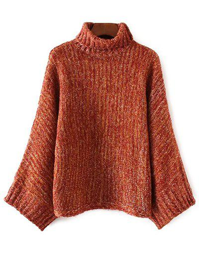 Turtle Neck Marled Batwing Sweater studio m new burgundy red marled women s size large l boat neck sweater $98