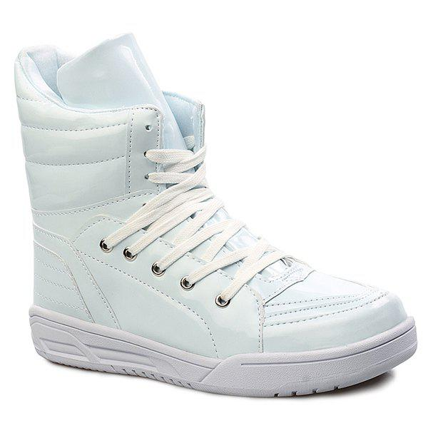 Patent Leather High Top Shoes