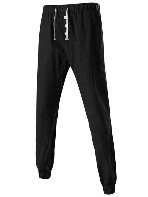 где купить Drawstring Button Embellished Jogger Pants дешево