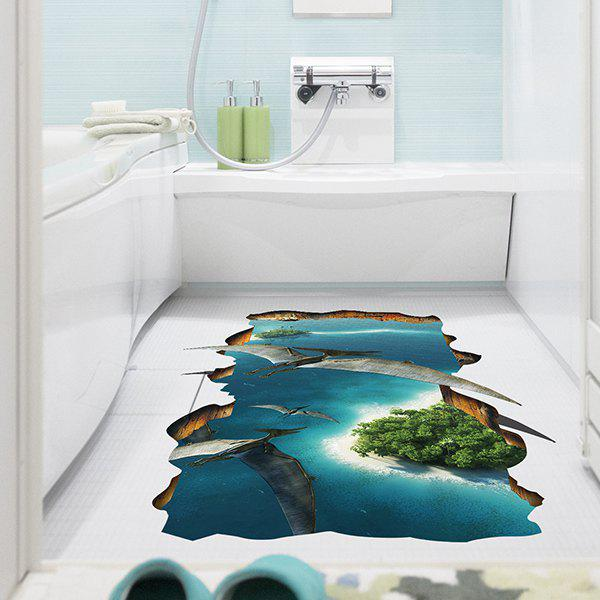 Removable 3D Pterosaurs Animal World Bedroom Kindergarten Decoration Floor Sticker - COLORMIX