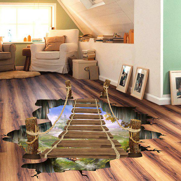 Removable 3D Drawbridge Bedroom Kindergarten Decoration Floor Sticker