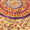 Round Totem and Flower Print Long Scarf - LIGHT YELLOW