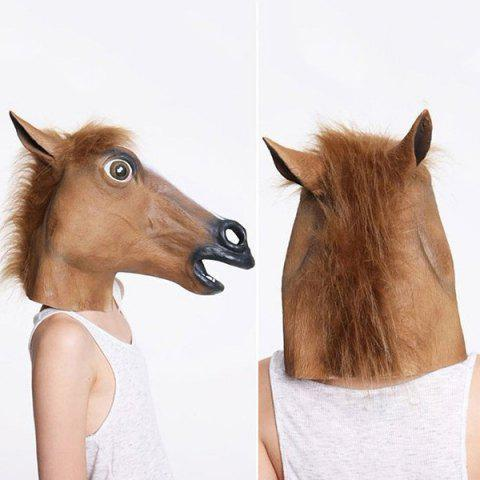 Creative Horse Head Mask Halloween Cosplay Prop - BROWN