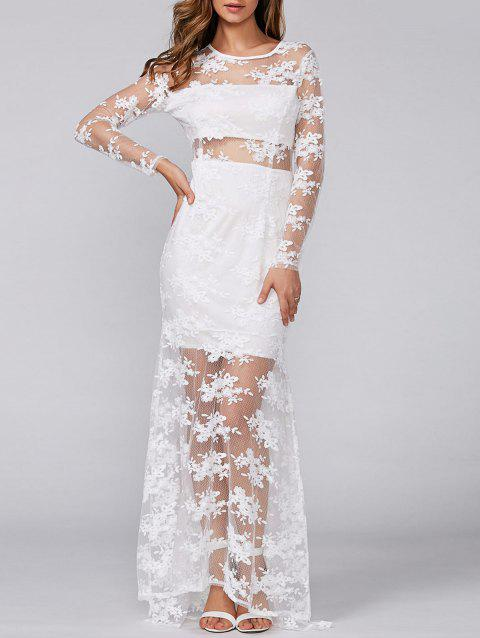 See Through Lace Slimming Maxi Dress